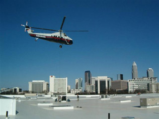 Helicopter Lift of RTU's in Uptown Charlotte, NC